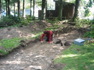 2006. Arkeologisk museum finner bosettingsspor fra vikingtid/tidlig middelalder i Pakterhagen. (Foto Marit Synnøve Vea)
