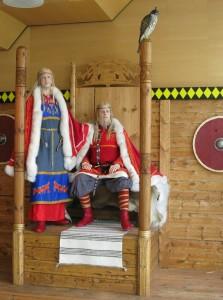 Harald Fairhair and Gyda in Nordvegen History Centre. (Photo Marit Synnøve Vea)