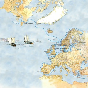 The Viking Voyages. (Illustration Dag Frognes)