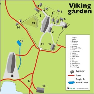 Map of the Viking farm