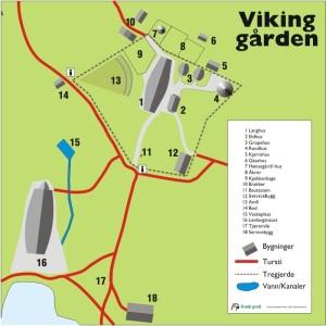 Map of the Viking farm