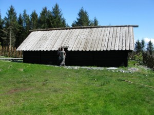 The house is a traditional trestle built construction. It is used as lodging for school children. (Photo Marit Synnøve Vea)