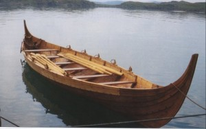 Holmrygr has five pairs of oars, oarlocks, floorboards, thwarts and rudder. (Photo Sverre Bakkevik)