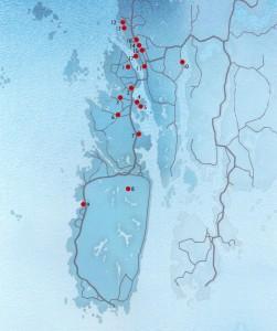 Viktige 900-talls funn, Karmøy - Haugeund. Etter Arnfrid Opedal 2010. (Ill Steinar Iversen)