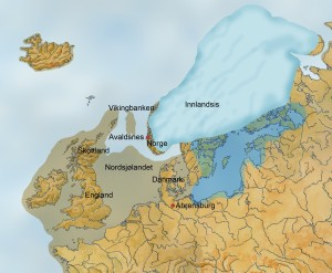 NORDSJØFASTLANDET En gang kunne man gå tørrskodd fra Kontinentet til de britiske øyer. (Ill Dag Frognæs)
