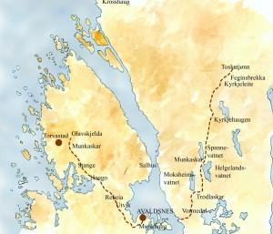 PILGRIMS' ROUTES IN THE AVALDSNES AREA (Ill Dag Frognes)