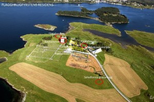Flagghaugfyrstens residens. (Foto KIB media)
