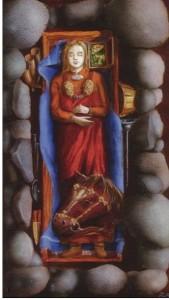 Gauseldronningen, Stavanger, fra ca 850,  En av Norges rikeste kvinnegraver. Ill: Ragnar Børsheim