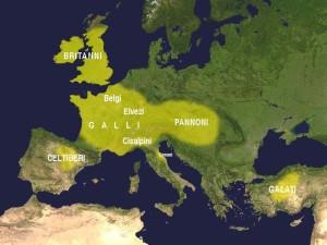 Utbredelsen av den keltiske kulturen i den 3 århundre f.Kr.(Kilde. Francisco Villar i