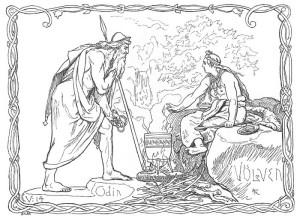 Odin og Volva,  (Lorentz Frølich, 1895)