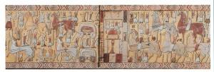 Oseberg teppet som ble funnet sammen med Osebergskipet er en visuell fortelling om en religiøs prosesjon. Mange av figurene, også kvinner, bærer spyd. Hvorfor? Er de kvinnelige krigere?