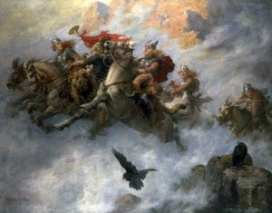 The ride of the Valkyries (Maleri William T. Maud, 1890)
