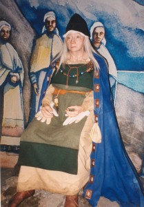 Volva Gudrid slik hun framstilles i Sagamuseet, på Island