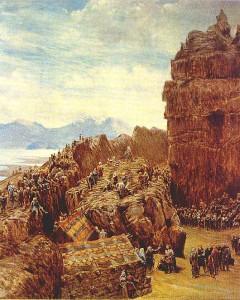 Det islandske alltinget møtes på Thingwellir. (Maleri av  W.G. Collingwood, 1970-tallet)