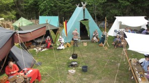Every year in June there is a Viking Festival and a Marked at the Viking Farm (Photo Ørjan Iversen)