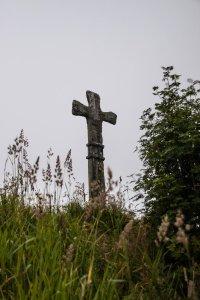 Steinkorset på Gard i Haugesund.  Etter lokal tradisjon skal dette korset vera reist til minne om Eirik Blodøks. (Foto Cathrine Glette)