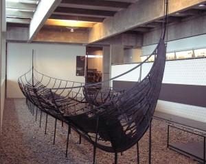 Skuldelev II. Skipsvrak gravd fram i Roskilde i 1962.  Ble bygget  i Dublinområdet rundt 1042. (Foto Wikimedia Commons)