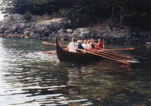 Vikingbåten Holmrygr. Replika av den største av de tre båtene som ble funnet sammen med Gokstadskipet.